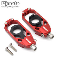 BJMOTO For Yamaha TMAX 530 2013 2014 2015 CNC Tensioners Catena Rear Axle Spindle Chain Adjuster