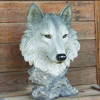 The wall hanging garden resin crafts simulation animal home decoration Wolf statue home decoration accessories sculpture estatua