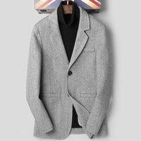 Для мужчин Натуральная шерсть повседневное теплый Блейзер E1026 007