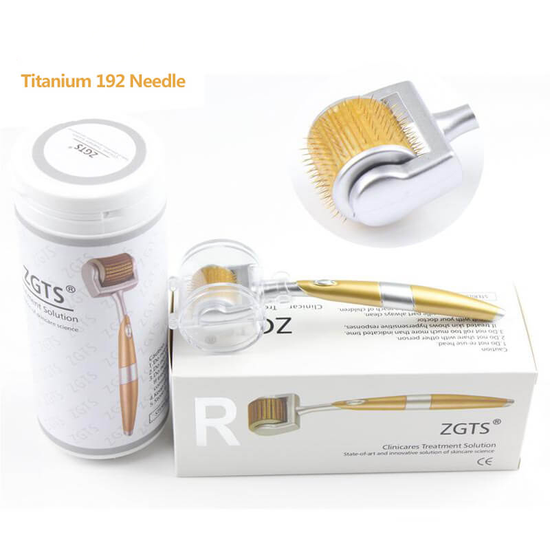Professional 192 Needles Titanium ZGTS Derma Roller For Face Care And Hair Loss Receding Mezoroller CE Certificate Approval(China)