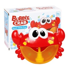 лучшая цена DROPSHIPPING  Bubble Crabs Baby Bath Toy Funny Bath Bubble Maker Pool Swimming Bathtub Soap Machine Toys for Children Kids Gift
