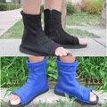 Naruto Cosplay Konoha Sasuke Kakashi Cosplay azul Ninja sapatos botas homens mulheres costume acessórios