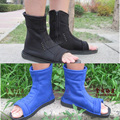 Zapatos de Cosplay Naruto Konoha Sasuke Kakashi Cosplay negro azul Ninja botas hombres mujeres zapatos accesorios de vestuario