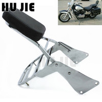For Kawasaki Vulcan 1500 VN1500 1500 Motorcycle Chrome Rear Backrest Sissy Bar Luggage Rack