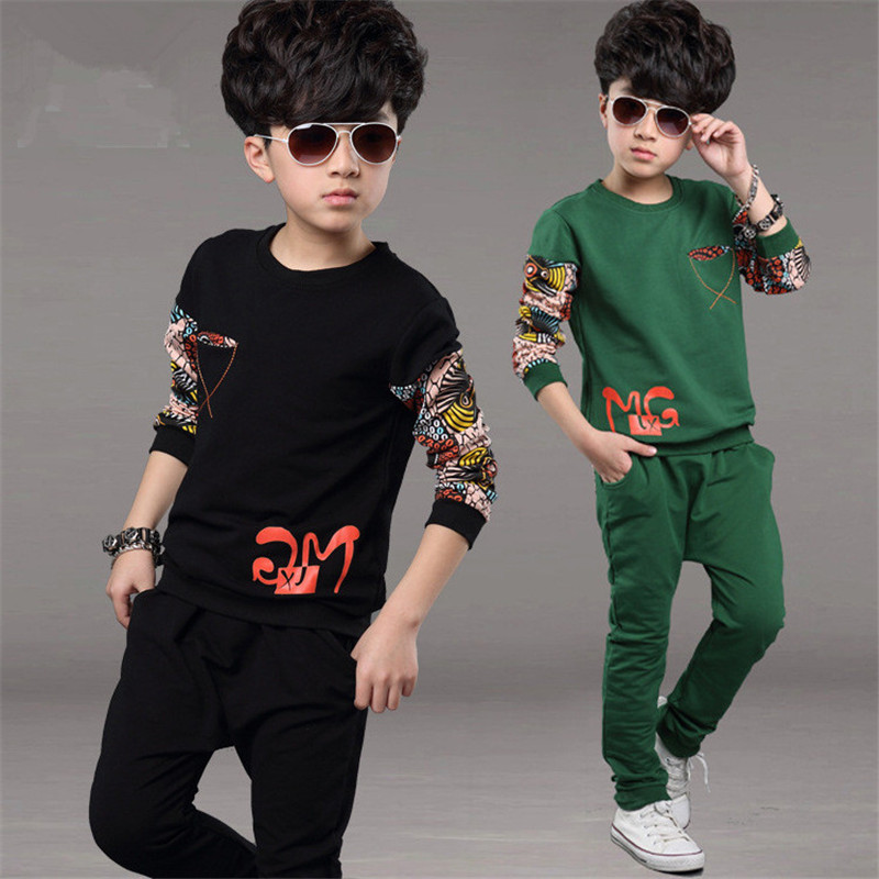 Boy T Shirt Pants Set Long Sleeve O-Neck Casual Children Clothing Tutu Toddler Autumn Kids Clothes Baby Suit Infantil Sets Boys malayu baby kids clothing sets baby boys girls cartoon elephant cotton set autumn children clothes child t shirt pants suit