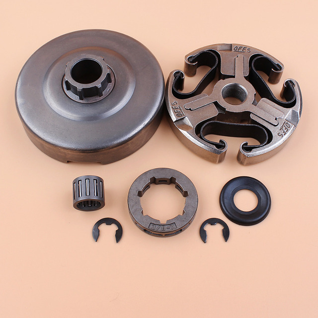 "Clutch Drum Sprocket Rim Washer Bearing Kit For Husqvarna 365 372 XP 372XP 371 362 Chainsaw Parts 3/8"" Pitch 7 Tooth"