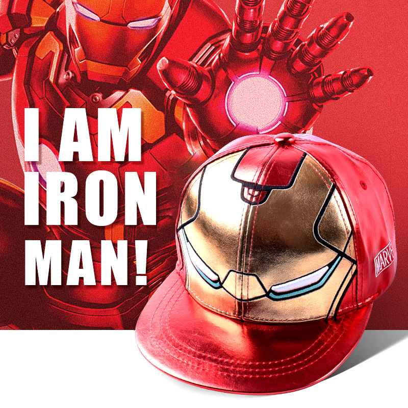Iron Man New Marvel AVENGERS   Caps   3D Embroidery Cotton   Baseball     Cap   Men Snapback Hat For Women Gorras Bone Hip Hop Casquette