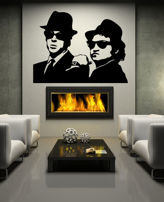 Wall decals sticker vinyl the blues brothers wall stickers wall 3