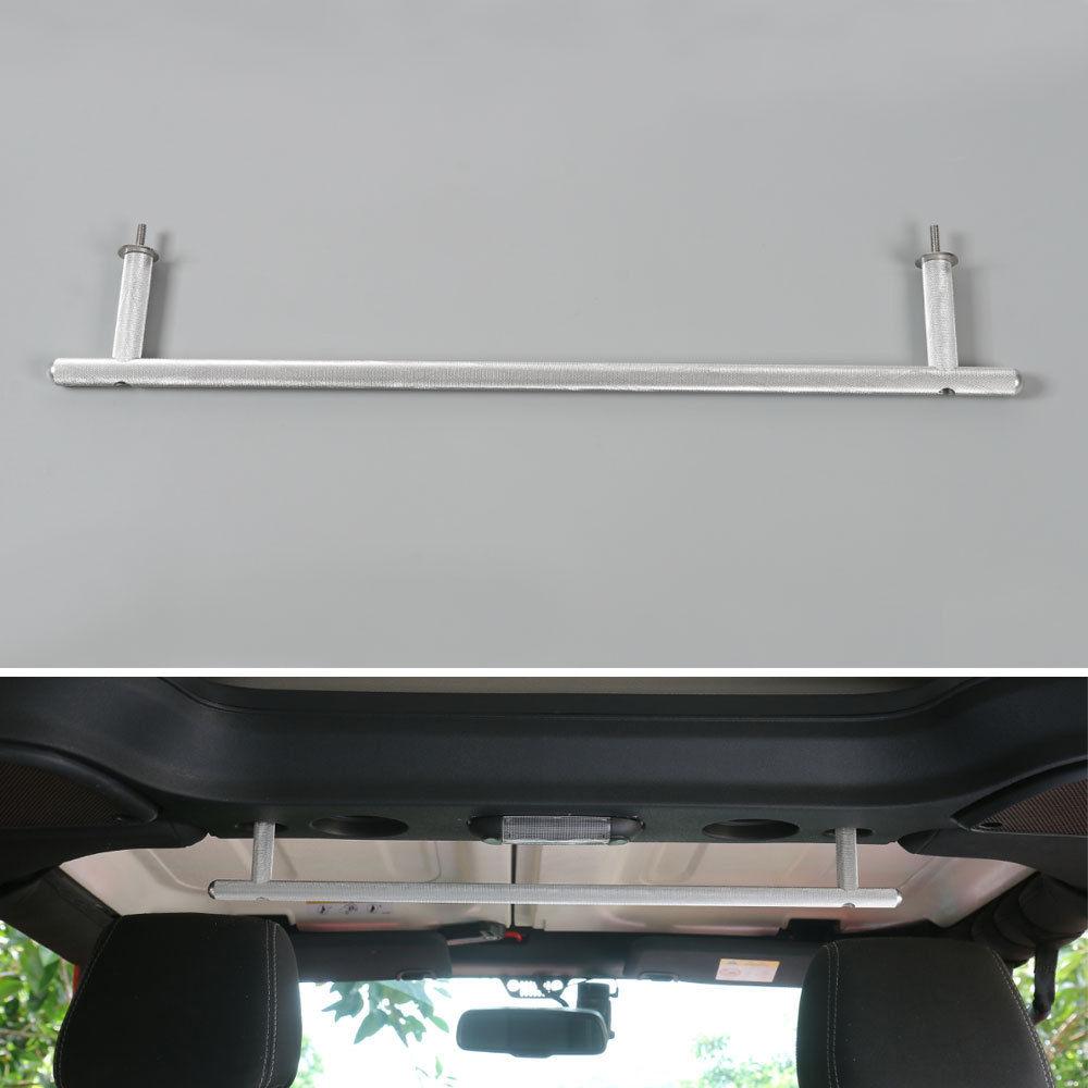 7pcs Silver Aluminium Car Roof Back Row Middle Grab Handle Bar For Jeep Wrangler 2007-2016 2/4 doors Auto Accessories