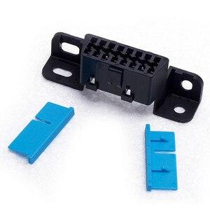 Image 4 - 高品質10ピース/ロットJ1962F 16PINメスコネクタ組立メスobd 16pin角度アダプタ車診断ソケットプラグケーブル