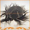 Парик мужчин полный швейцарский шнурок 1B цвет 100% хорошие волосы отбеливатель конт естественной границе волос прямая волна мужской парик парик бесплатно доставка