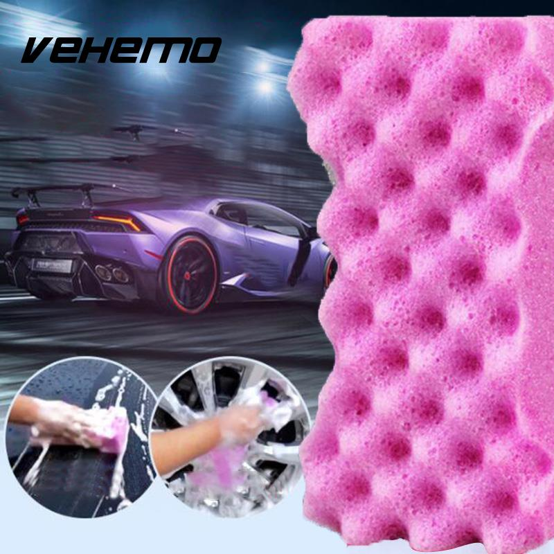 Vehemo Soft Honeycomb Car Cleaning Washing Sponge Vehicle Care Maintenance Tool