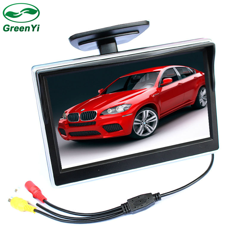2 Ways Video Input 5 Inch TFT LCD Auto Video Player Car Parking Monitor For Rear View Camera Parking Assistance System