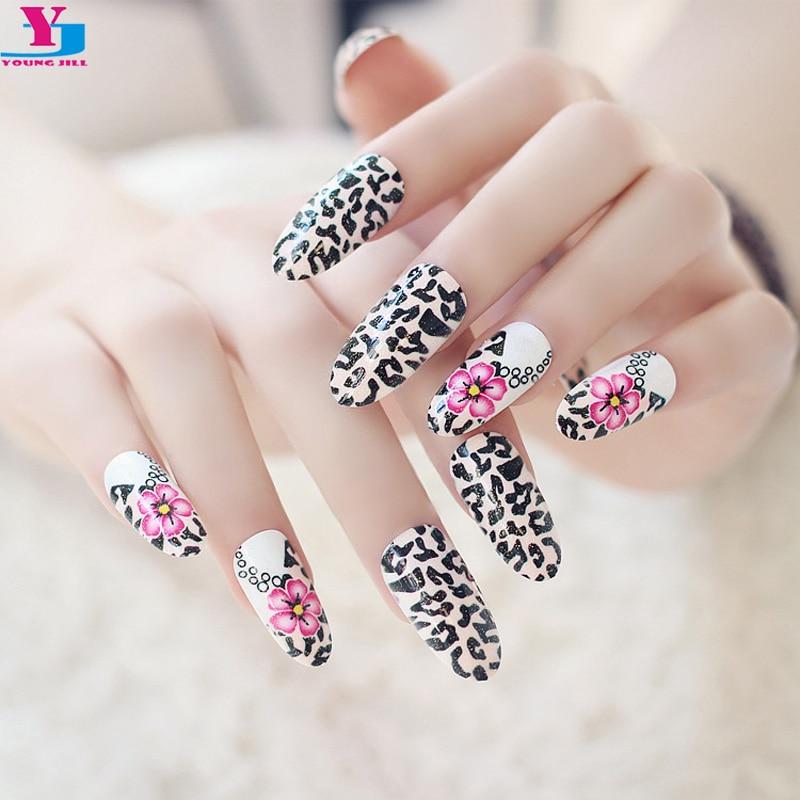 Tienda Online Más nuevo leopardo flor pre diseño clavo sexy Uñas ...