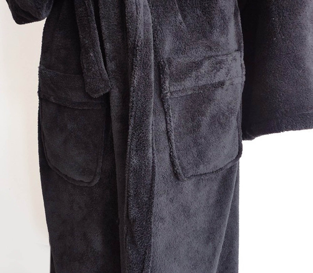 Star Wars Darth Vader Bathrobe BLACK Coral Fleece Bath Robe Embroidered Logo New