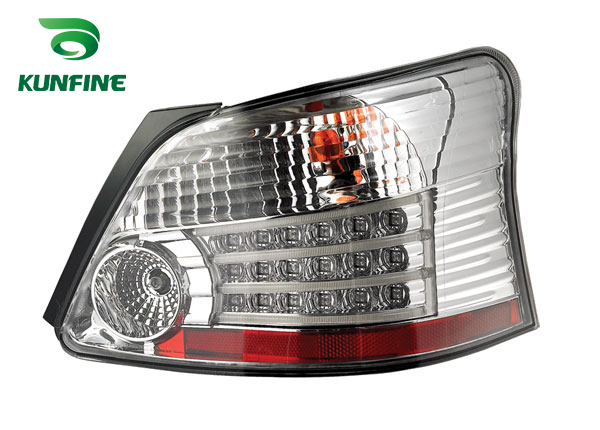 KUNFINE Pair Of Car Tail Light Assembly For TOYOTA VIOS 2008 2009 2010 2011 2012 2013 Brake Light With Turning Signal Light car rear trunk security shield shade cargo cover for nissan qashqai 2008 2009 2010 2011 2012 2013 black beige