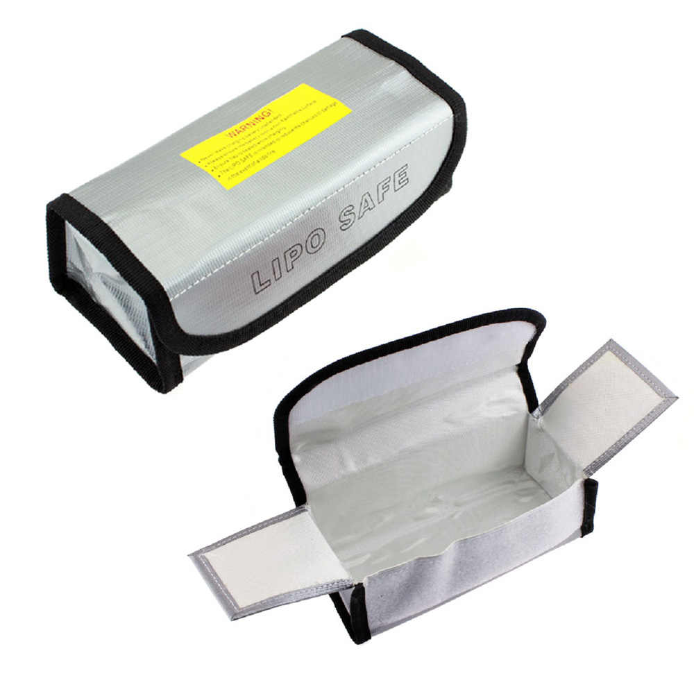 Vendita calda LiPo Li-Po Battery Guardia di Sicurezza di Sicurezza A Prova di Fuoco Bag 125*64*50mm 185 * 75*60mm Elicotteri Levert Dropship Per RC Drone