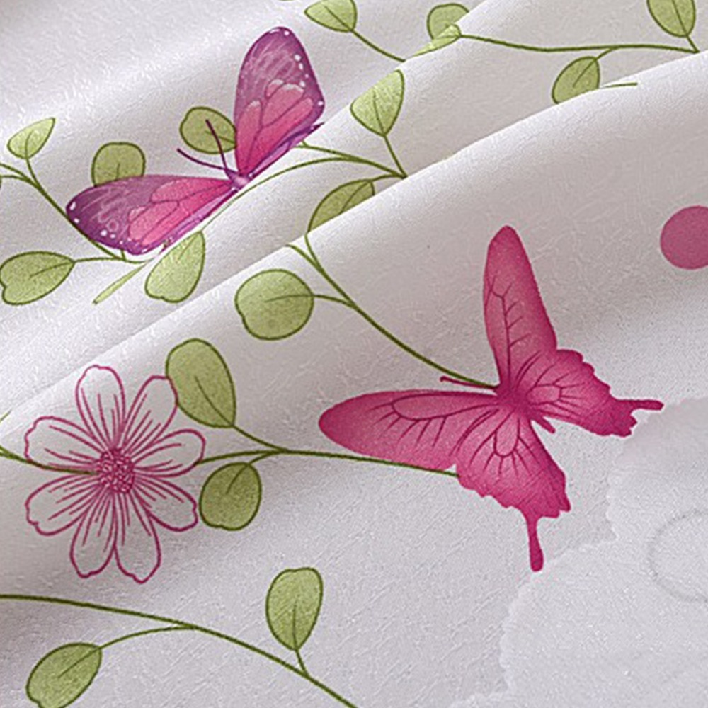 Imixlot Polyester Material Pink Color Butterfly Flower Fully Lined