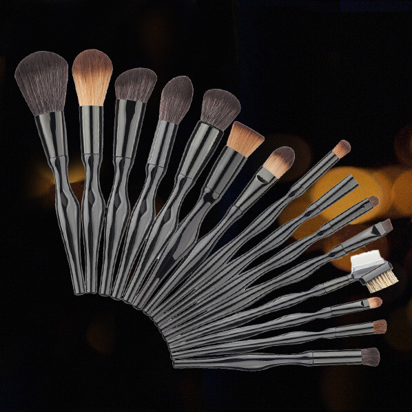 15PCS Make Up Curves Foundation Eyebrow Brush Blush Cosmetic Lip Concealer  For Face Make Up Beauty top quality maquiagem zoeva 142 concealer buffer face brush maquiagem make up brush concealer brush