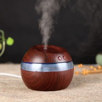 Aroma Essential Oil Diffuser Wood Grain Ultrasonic Cool Mist Humidifier For Office Home Bedroom Living Room
