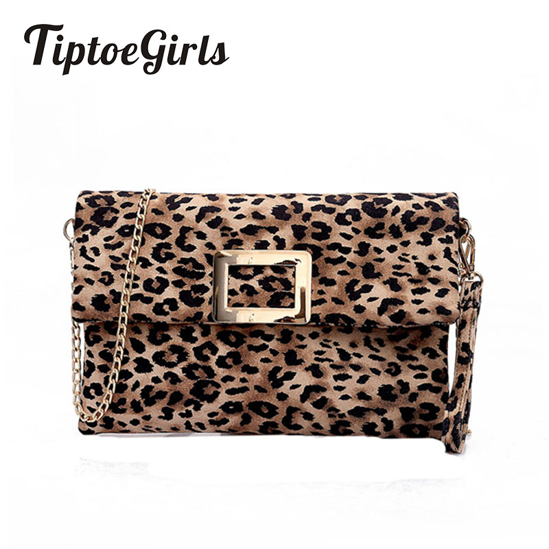Leopard Women's Clutch Bag New Fashion High Quality Personality Chain Casual Wild Temperament Shoulder Messenger Bag