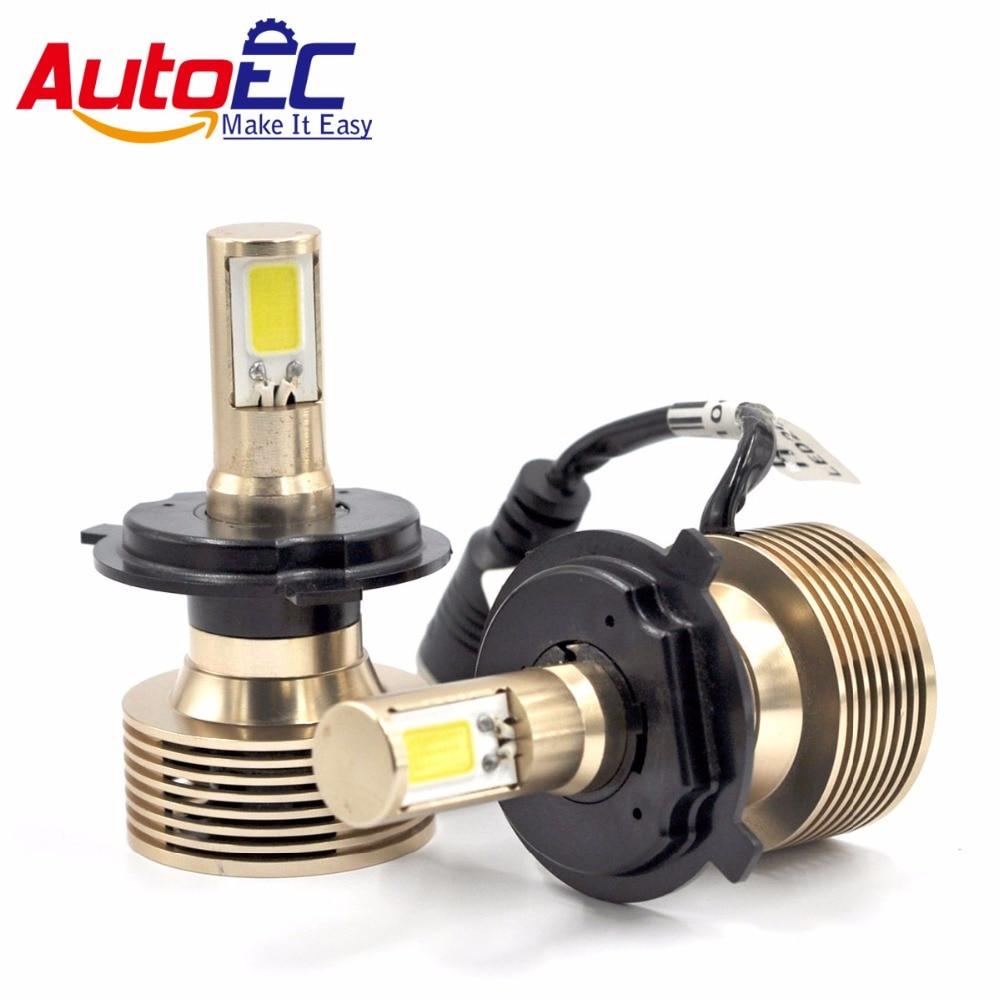 AutoEC 2pcs H1 H3 H4-H / L H7 H8 H9 H10 H11 H13 9004 9005 9006 9007 - Avtomobil işıqları - Fotoqrafiya 1