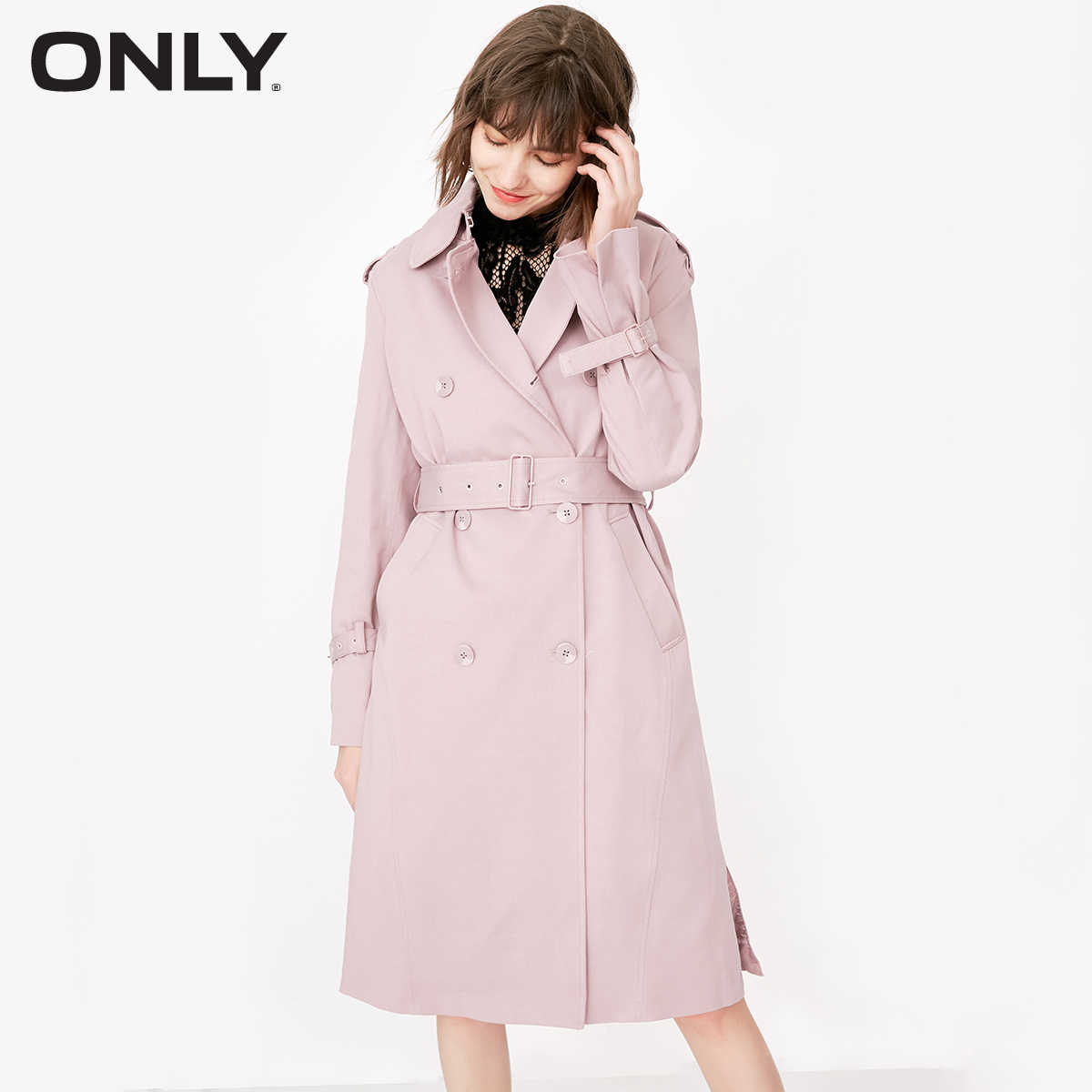 ONLY Women's Double-breasted Wind Coat  118136510