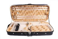 Full Size Violin Viola Case Double Violin Hard case Violin Box Wood Oblong Case Strong Light