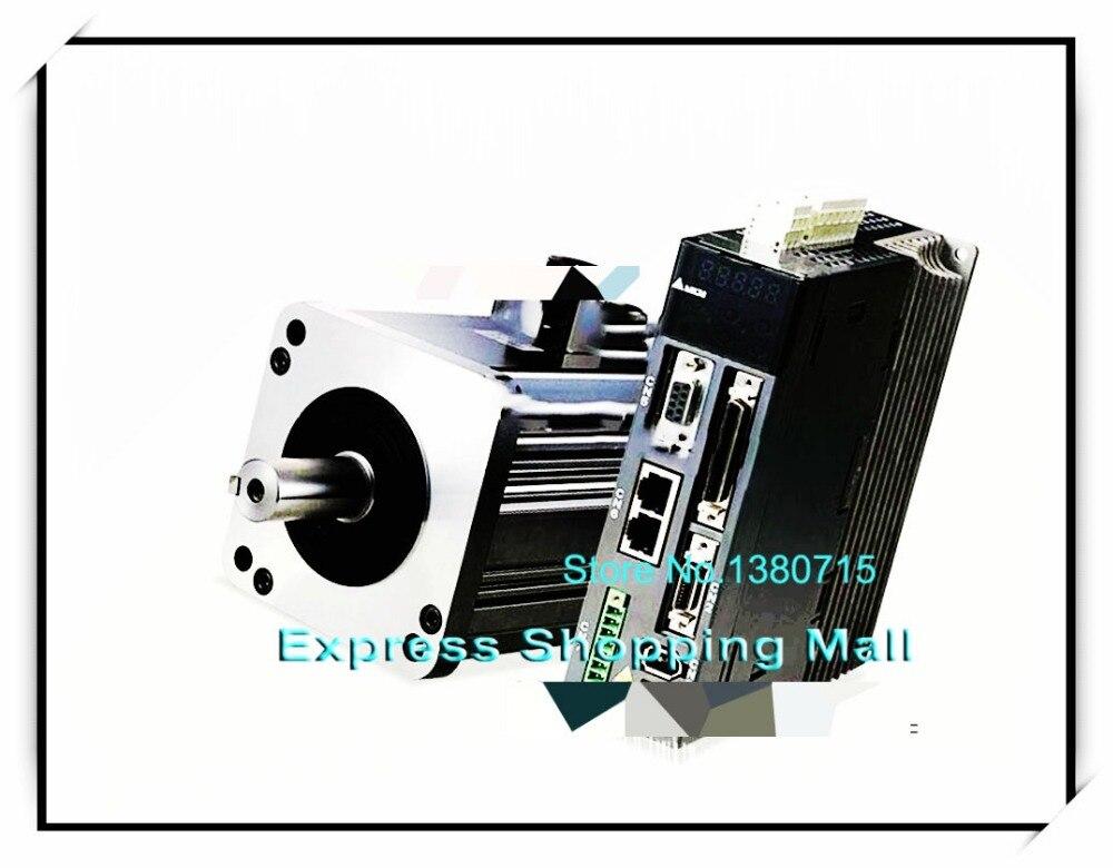 ECMA-E31310FS+ASD-A1021-AB 220V 1KW 4.77NM 2000RPM 130mm AC Servo Motor & Drive kits brake 2500ppr ECMA-E31310FS + ASD-A1021-AB asd 19