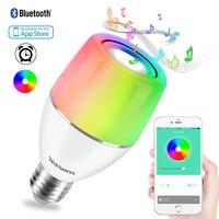 Texsens E27 APP Smart LED Music Bulb Colorful Light Control Night Light Audio Speaker RGB Wireless Bluetooth Playing Lighting