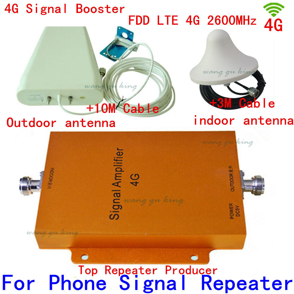 4G 2600MHZ Signal Booster For Mobile Phone Coverage Area 1500 Square Meter With Log Periodic Antenna And Ceiling Antenna+Cable