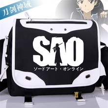 High Quality Oxford Messenger Bags for Boys and Girls Sword Art Online Kirigaya Kazuto Cartoon Cosplay