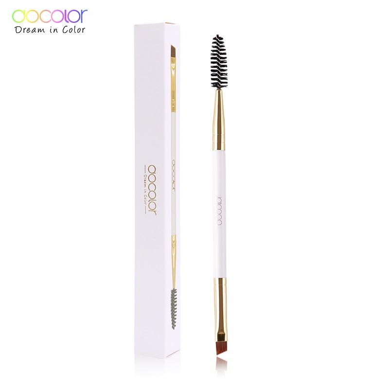 Docolor Eyebrow Brush + Kulmakarvojen kampa kauneus kulmakarvojen harja ammattikäyttöön meikki harjat silmä Brow Brush sekoitus silmä