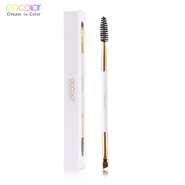 Docolor del cepillo de cejas + ceja peine belleza cepillo de cejas pinceles de maquillaje profesional para cejas ojo cepillo de mezcla ojo