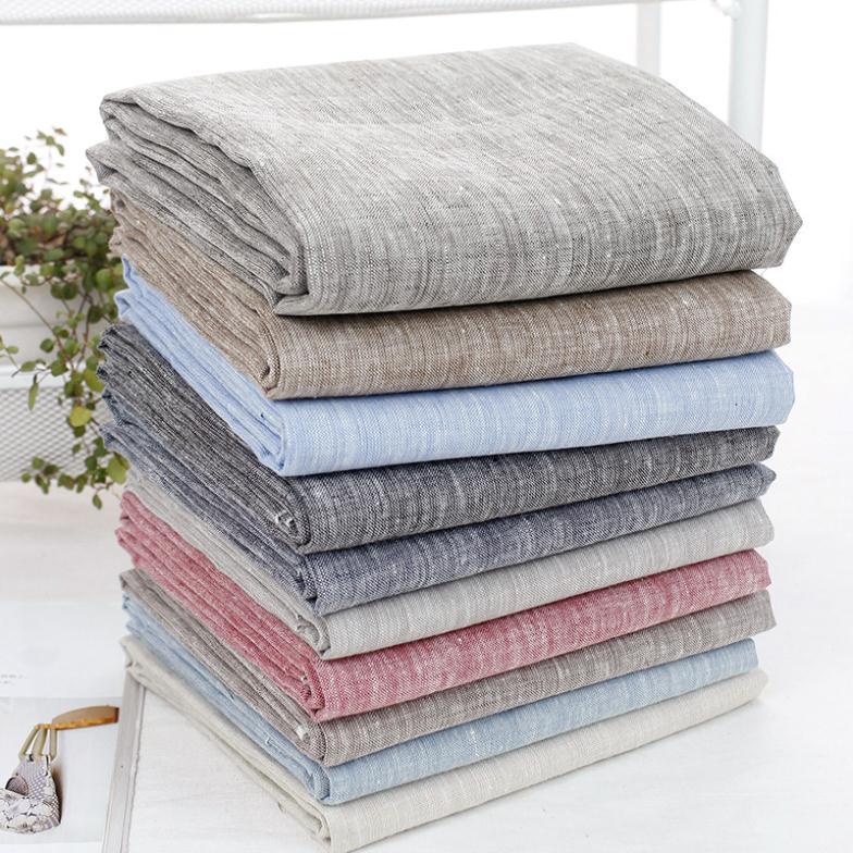 2017 fabrics New Linen Fabric Handmade DIY Linen Cloth Clothes ...