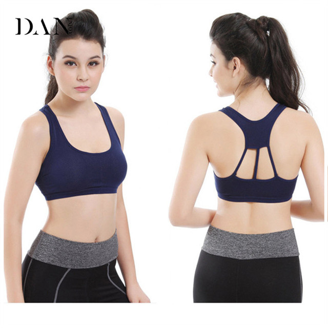 32f1096dc1 Hot Sexy Woman Sportswear Fitness Running Clothes For Women Jogging Yoga  Racerback Sports Bra Detachable Pad Stretch Cotton