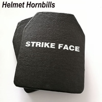 Helmet Hornbills 2018 New Arrival 2pcs/Lot 10x12 Alumina&PE NIJ Level IV Stand Alone Bulletproof Panel Al2O3 Ballistic Plates