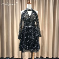 Leeymon 2018 New Arrival Custom Made Short Black Prom Dresses Sexy Mini Cocktail Dress special Occasion Dresses