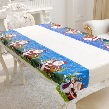 Merry Christmas Rectangular Tablecloth Kitchen Dining 1