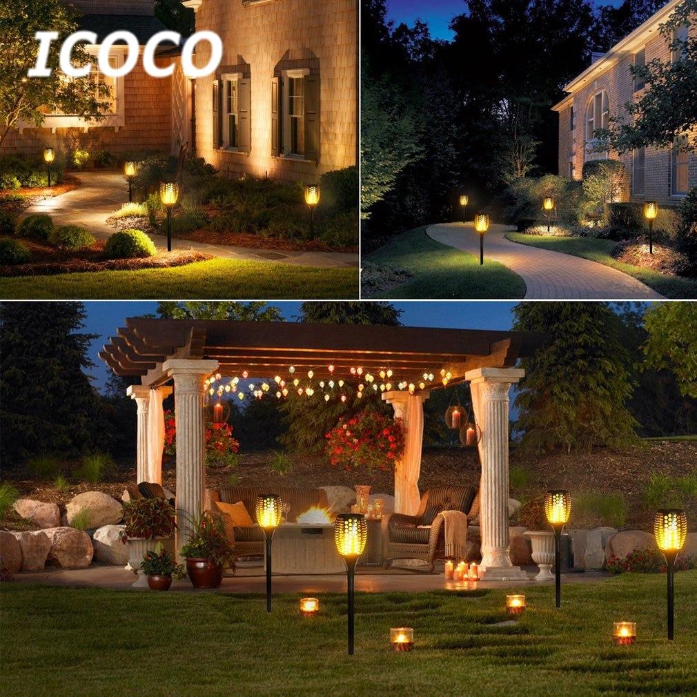 Aliexpress.com : Buy 96 LED Solar Flickering Flame Torch Night Light ...