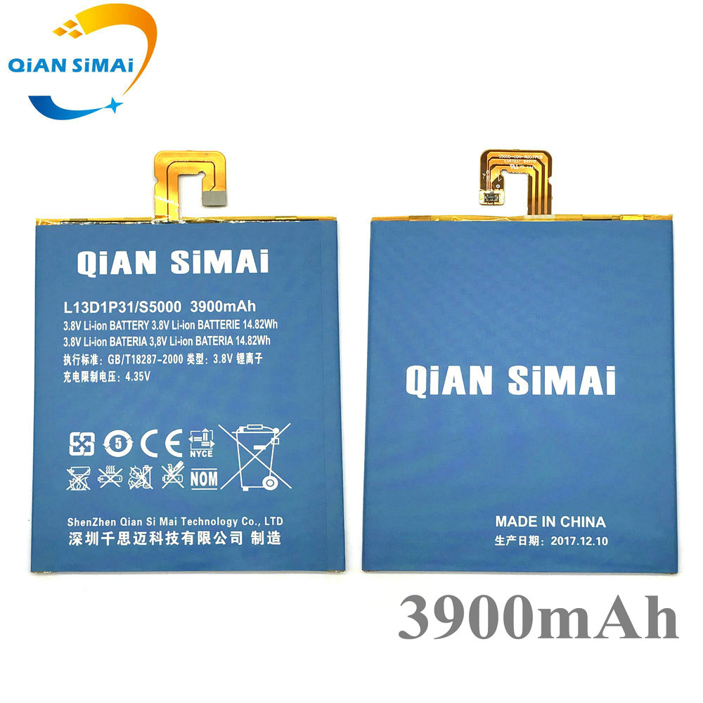 QiAN SiMAi 2017 New L13D1P31 3900mAh Battery For Lenovo LePad S5000 S5000H S5000-H Tablet PC free shipping +track code