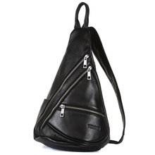Hot Sale Handmade Cross Body 100 Genuine Leather Bag For Men Sling Bag Waterproof Large Capacity