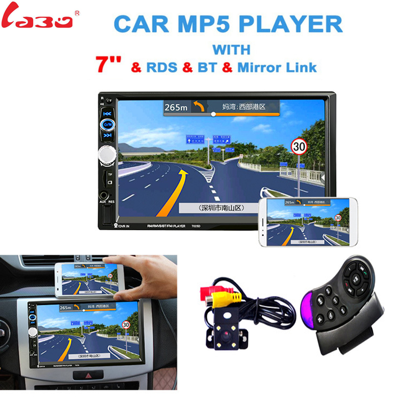 LaBo 7025D 7'' HD 2Din Car Radio MP5 Player Mobile Phone internet Bluetooth Touch Screen Stereo Radio Player MP4/Audio/Video mediox mid 7025 8gb