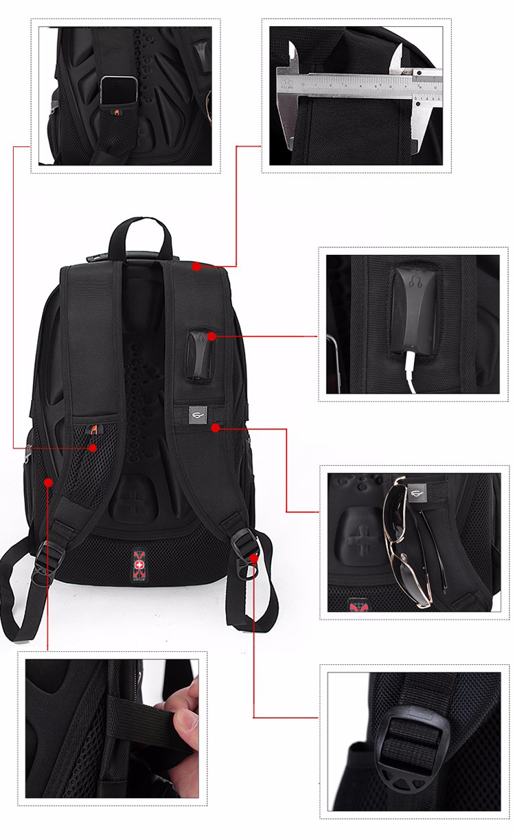 Waterproof Swiss Travel Backpack- Fenix Toulouse Handball bd8005920670b