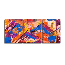 Laeacco Abstract 3 Panel Watercolor Pictures Canvas Paintings Graffiti Posters and Prints Wall Art Home Living Room Decoration