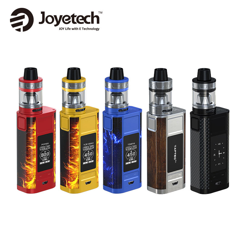 Original 228W Joyetech CUBOID TAP Starter Kit with 4ml Capacity ProCore Aries Tank &CUBOID TAP Mod No 18650 Battery Vape Kit original joyetech cuboid mod 150w for wismec theorem rta tank 2 7ml atomizer without 18650 battery electronic cigarette vape kit