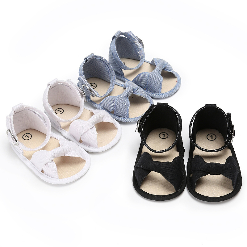 Summer 0-1 Years Old Girl Baby Soft Bottom Butterfly Knot Shoes Non-slip Baby Toddler Shoes
