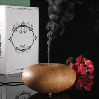100ml Aroma Essential Oil Diffuser Air Humidifier Mini Wooden Grain Aromatherapy Humidifier Water Mist Maker Fogger