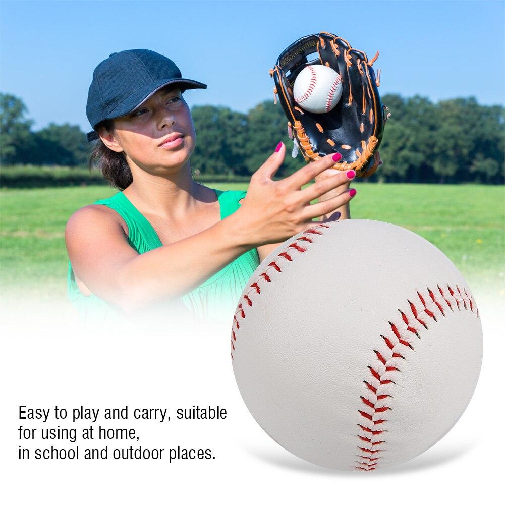 White safety kid Softball Baseball Practice Trainning chlid Softball balls Sport Team Game Soft Filling Practice Trainning