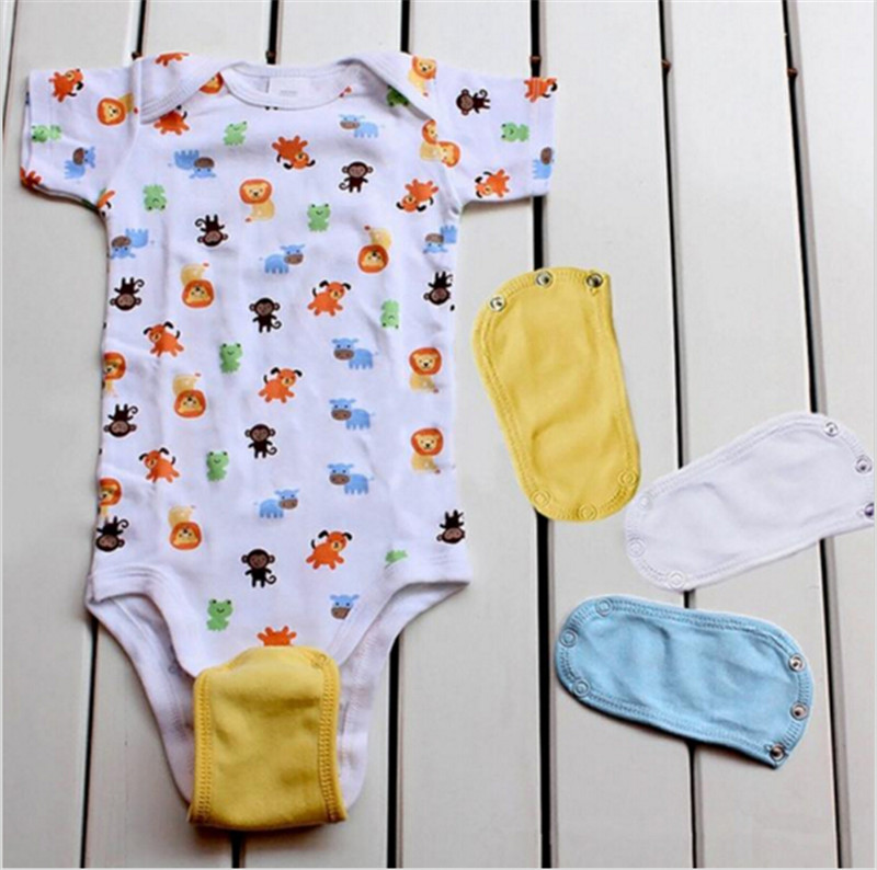 1PC Lovely Baby Boys Girls Kids Baby Romper Crotch Extenter Child One Piece Bodysuit Extender Baby Care 4 Colors